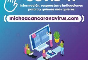 Página COVID gobierno Michoacán